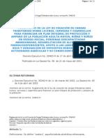 Decreto29463HReglamento delaLeydeCreaciondeCargasTributariassobrelicorescervezasycigarrillos