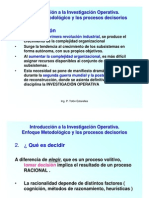 IO Introduccion y Proceso de Decisión