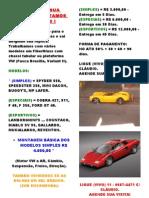 ~Kit Carros Em Fibra - Fiberglass~