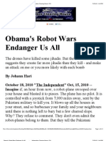 Obama's Robot Wars Endanger Us All          _      Information Clearing House_ ICH