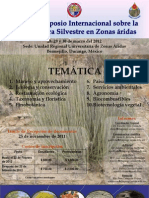 VIII Simposio Internacional sobre Flora de Zonas Aridas  2012