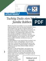 Tuchtig Duits Eten Bij de Familie Robben