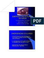 Urgencias oftalmológicas niños