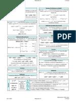 Formulario para el Segundo Parcial de Matemáticas IV EECA UCV