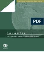 Ley, tenencia de la tierra en Latinoamérica.  Colombia