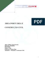 ATIVIDADE 4 ÁREA PORTUÁRIA E CONTRUÇÃO CIVIL