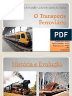 Trabalho sobre o transporte ferroviário maio2011-apresentação