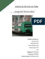 Trabalho sobre o transporte ferroviário maio2011