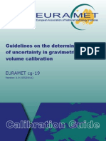 EURAMET Cg-19 v 2.0 Guidelines in Uncertainty Volume 01