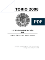 PETITORIO LICEO DE APLICACIÓN 2008