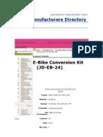 E-Bike Conversion Kit Guille