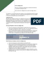 Administración del archivo de configuración