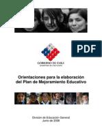 201103070158480.MINEDUC.orientaciones Para La Elaboracion Del Plan de Mejoramiento Educativo Para Escuelas Regulares