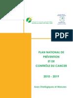 Plan National de Prévention et de Contrôle du Cancer 2010-2019