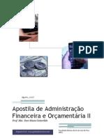 Apostila de Administração Financeira II