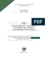 MANTENIMIENTOYOPERACIONDEEQUIPOSDECONTROLELECTRÓNICO DE POTENCIA