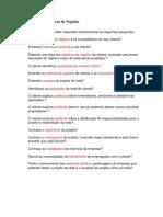 Checklist de Objetivos de Negócio