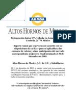 Informe_Anual_altos Hornos de Mexico