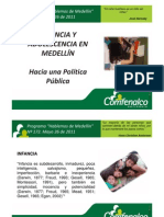 Cartelera Hablemos de Medellín sobre Política Públicade Infancia Adolecencia