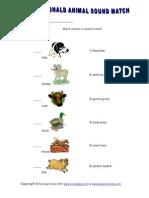 Animal Sound Match