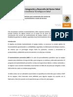 Lineamientos para contratación des servicio de mantenimiento a traves de terceros (mexico)
