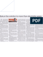 Bakun the Solution to more than Electricity Woes