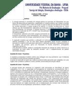 2009 Prova Biologia - Caderno 1 Fase 2 - Comentada