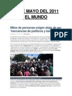 El Mundo - Democracia Real - 15, 16,17 y 18 de Mayo - 2011
