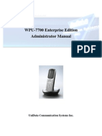 WPU 7700 Admin Manual