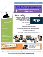 The Reform Symposium Free Online Conference Flyer for Schools