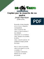 Manrique, Jorge - Coplas Por La Muerte de Su Padre