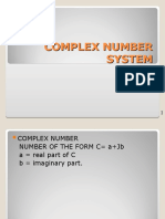 2. Complex Number System (Option 1)