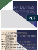 Staff Duties