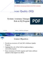 SQ Training Module 2 SAM Role in SQ Program