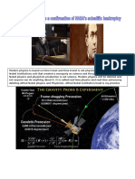 Gravity Probe B Real Time Solution and NASA's Scientific Bankruptcy