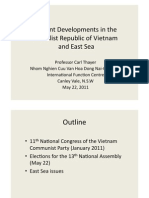 Thayer Recent Developments in Vietnam and the East Sea (South China Sea)
