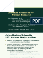 Literature Resources for Clinical Research