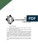 bazele managementului calitatii