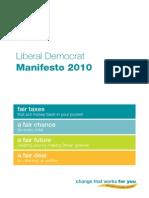 Libdem Manifesto 2010