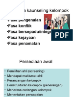 6 Fasa-Fasa Kaunseling Kelompok