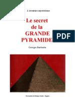 Aventure Mystérieuse Le Secret de la Grande Pyramide Georges Barbarin,