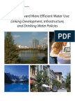 Growing Toward More Efficient Water Use Linking Development Infrastructure and Drinking Water Policies EPA