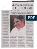 Amma's Visit to Pune Dr. Vijay Bhatkar's Article March 2011