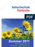 Volkshochschule Karlsruhe Sommerprogramm 2011
