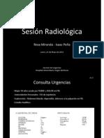 Sesión Médico-Radiológica