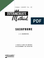 Saxophone - Intermediate