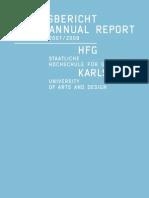 HfG-Jahresbericht Annual Report 07 08