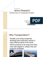 The Main Issue of Transportation Problem