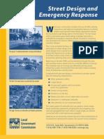 Street Design and Emergency Response
