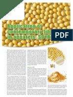Application of Contemporary Fibres in Apparel - Soybean